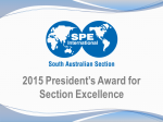 SA Section recognised with 2015 President's Award for Section Excellence