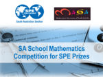 2016 SA School Mathematics Competition for SPE Prizes
