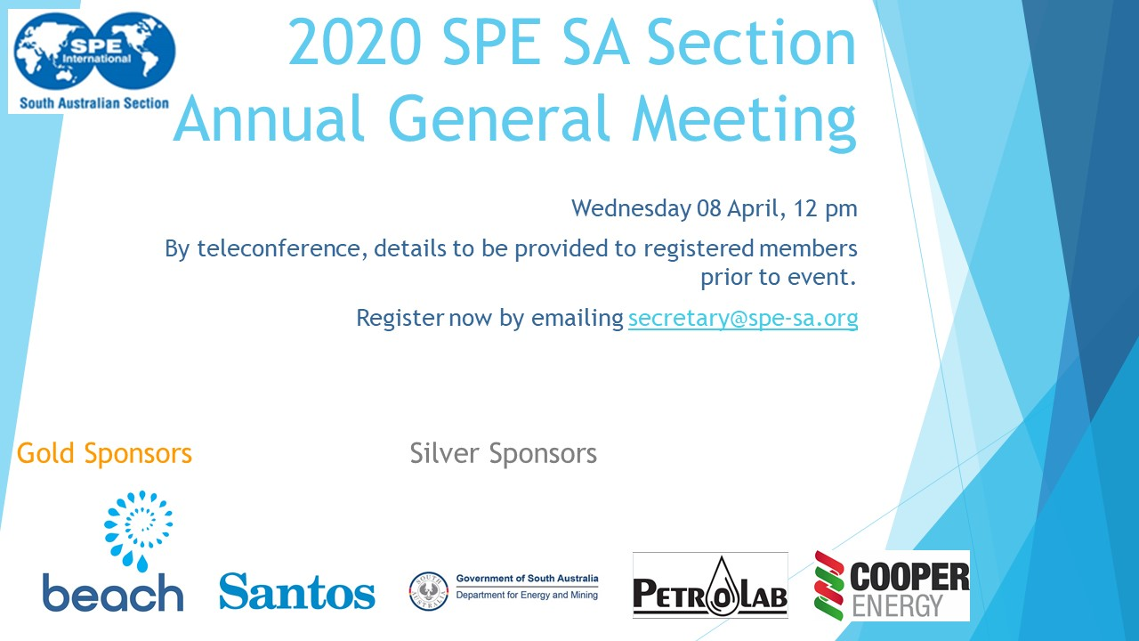2020 SPE SA Section AGM invitation
