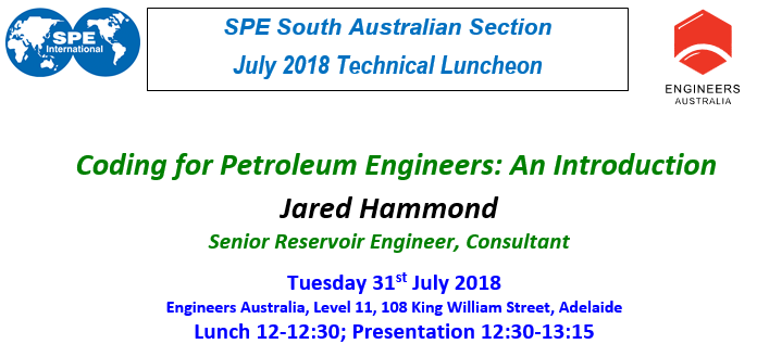 Late July 2018 SPE - EA Technical Luncheon
