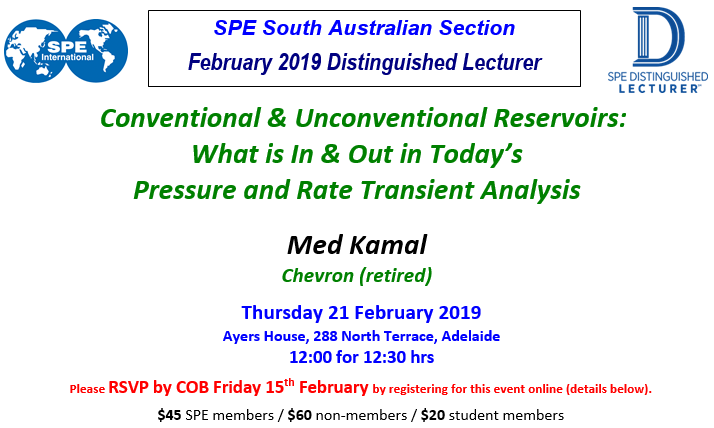 SPE SA February 2019 Technical Luncheon with Distinguished Lecturer Med Kamal